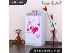 Komoda Happy Biela K01