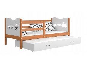 Detská posteľ Fox P2 s prístelkou 190x80 biela