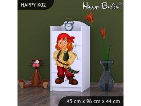 Komoda Happy Biela K02