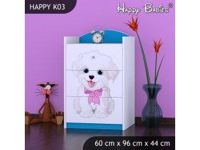 Komoda Happy Modrá K03