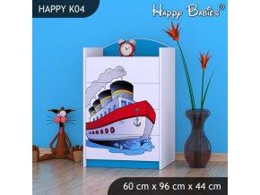 Komoda Happy Modrá K04
