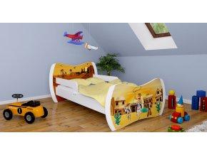 Detská postel Dream biela 180x90 rôzne motívy
