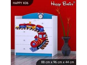 Komoda Happy Modrá K06