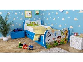 Detské postele DREAM modré 140x70