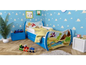 Super detská postel Dream modrá 180x90