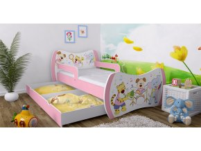 Dievčenské postele Dream ružové 140x70 - 37 motívov