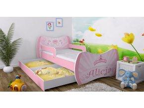 Detská posteľ Dream 180x90 ružová