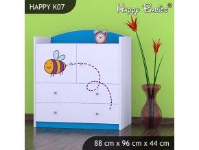 Komoda Happy Modrá K07