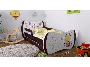 Detská posteľ DREAM 140x70 wenge