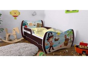 Skvelá detská posteľ Dream 180x90 wenge