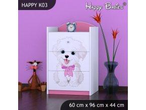 Komoda Happy Pink K03
