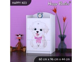 Komoda Happy Biela K03