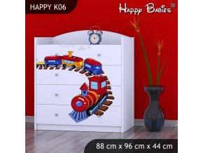 Komoda Happy Biela K06