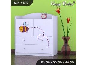 Komoda Happy Biela K07