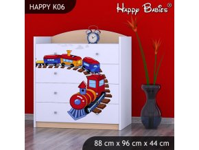 Komoda Happy Hruška K06
