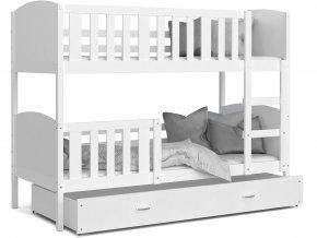 Dobby Biela Color MDF poschodová posteľ 190x80