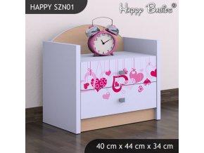 Nočný stolík Happy Hruška SZNO 01 všetky motívy