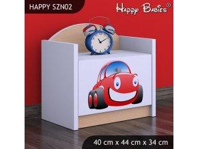Nočný stolík Happy Hruška SZNO 02 všetky motívy