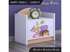 Nočný stolík Happy Hruška SZNO 03 všetky motívy
