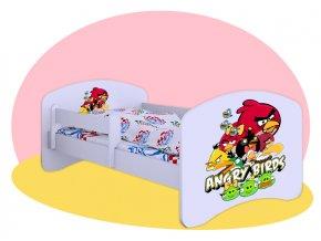 Angry Birds - Detská posteľ Hobby Biela 140x70