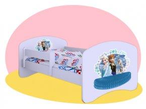 Ľadové kráľovstvo - posteľ Hobby 140x70