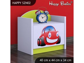 Nočný stolík Happy Lemon SZNO 02 všetky motívy