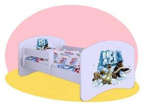 Doba ľadová - posteľ Hobby biela 140x70
