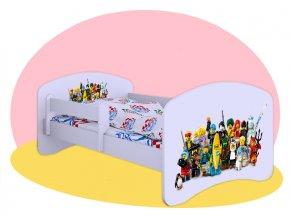 Lego Movie - detská posteľ Hobby biela 140x70