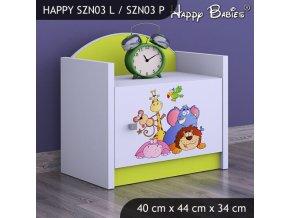 Nočný stolík Happy Lemon SZNO 03 všetky motívy