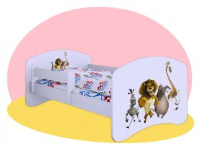 Madagaskar 2 - detská posteľ Hobby