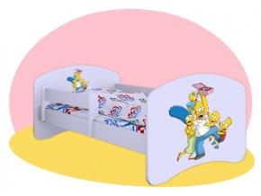 Simpsonovci - detská posteľ Hobby biela 140x70