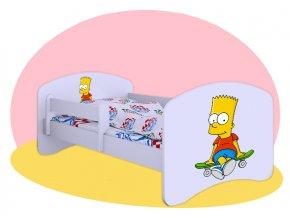 Bart Simpson - posteľ 140x70 Hobby biela