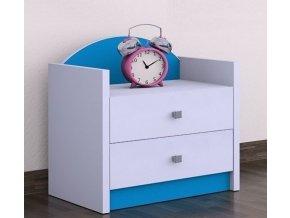 Nočný stolík Happy Modrý SZNO 01 všetky motívy