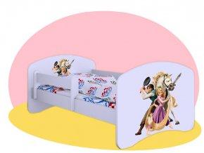 Tangled 2 - Hobby biela posteľ 140x70