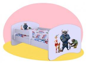 Zootopia - Hobby biela posteľ 140x70