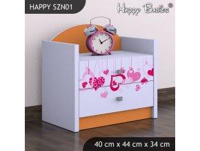 Nočný stolík Happy Orange SZNO 01 všetky motívy