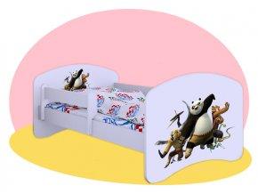 Kung Fu Panda - posteľ Hobby biela 160x80