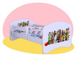 Lego postavičky - postele Hobby biele 160x80