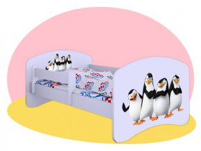 Tučniaci z Madagaskaru - Hobby biela 160x80