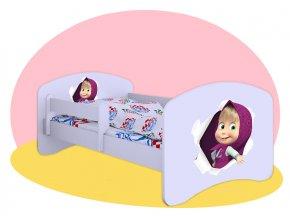 Máša posteľ pre deti Hobby biela 160x80