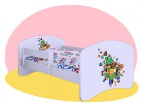 Minecraft posteľ Hobby biela 160x80