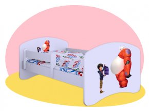 Big Hero 6 - biela posteľ Hobby 180x90