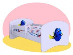 Hľadá sa Dory - Biela posteľ Hobby 180x90