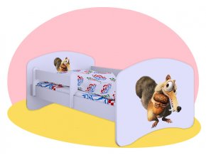 Veverička Doba ľadová - postele Hobby biele 180x90