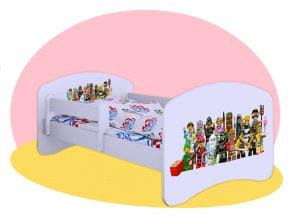 Lego Postavičky - biela Hobby posteľ pre deti 180x90