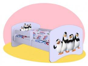 Tučniaci z Madagaskaru - Hobby posteľ 180x90