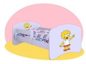 Líza Simpson - posteľ pre deti Hobby biela 180x90