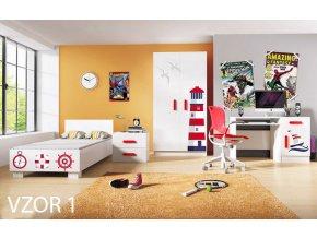 Detská izba LOOP - vzor 1 more