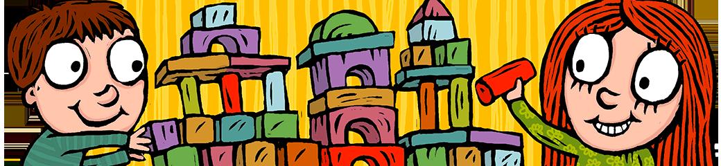 """Dětské dřevěné kostky a dřevěné stavebnice """"VictorCube"""""""