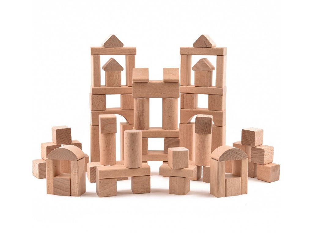 Dřevěné stavebnice pro děti - VictorCube - 72 ks